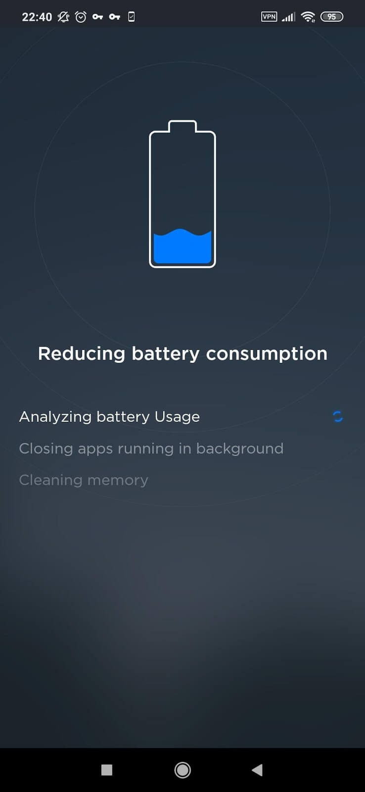 TouchVPN Battery